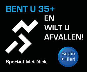 Banner Sportief met Nick