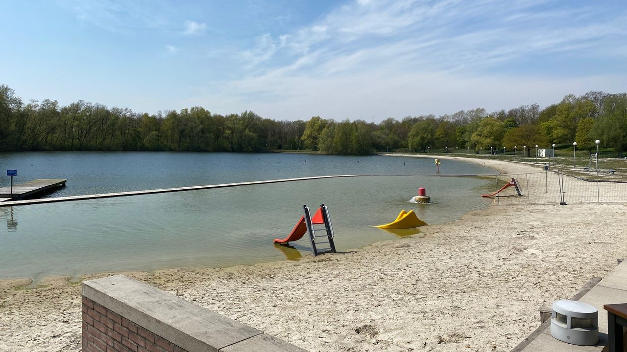 Strandbad Enode in Nuenen blijft nog enkele weken gesloten