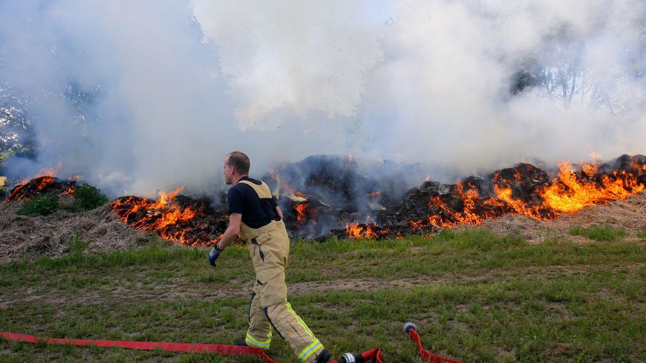 Natuurbrand in buitengebied bij Tongelre