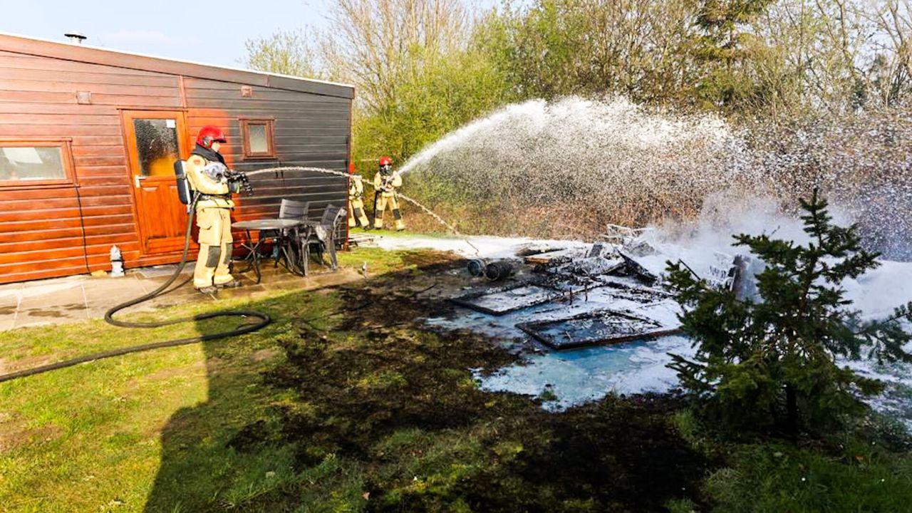 Schuur afgebrand op camping in Veldhoven