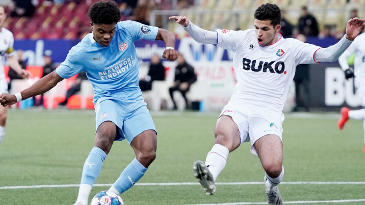 Jong PSV - Telstar eindigt in 2-2 gelijkspel
