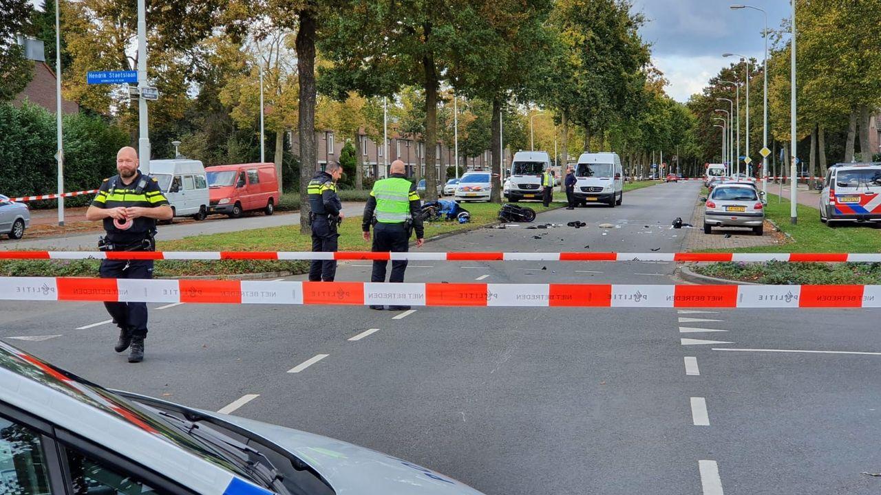Ernstig ongeval tussen motor en motorscooter in Woensel-Zuid
