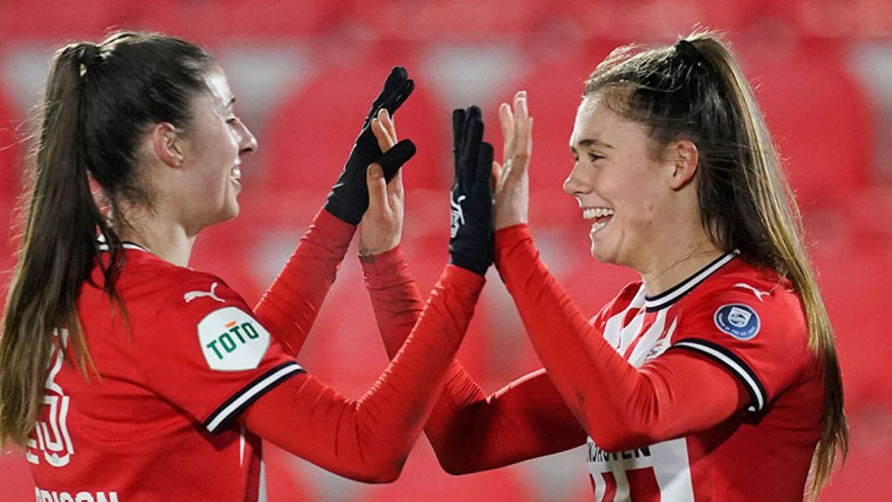 PSV Vrouwen verzekerd van voorronde Champions League na overwinning