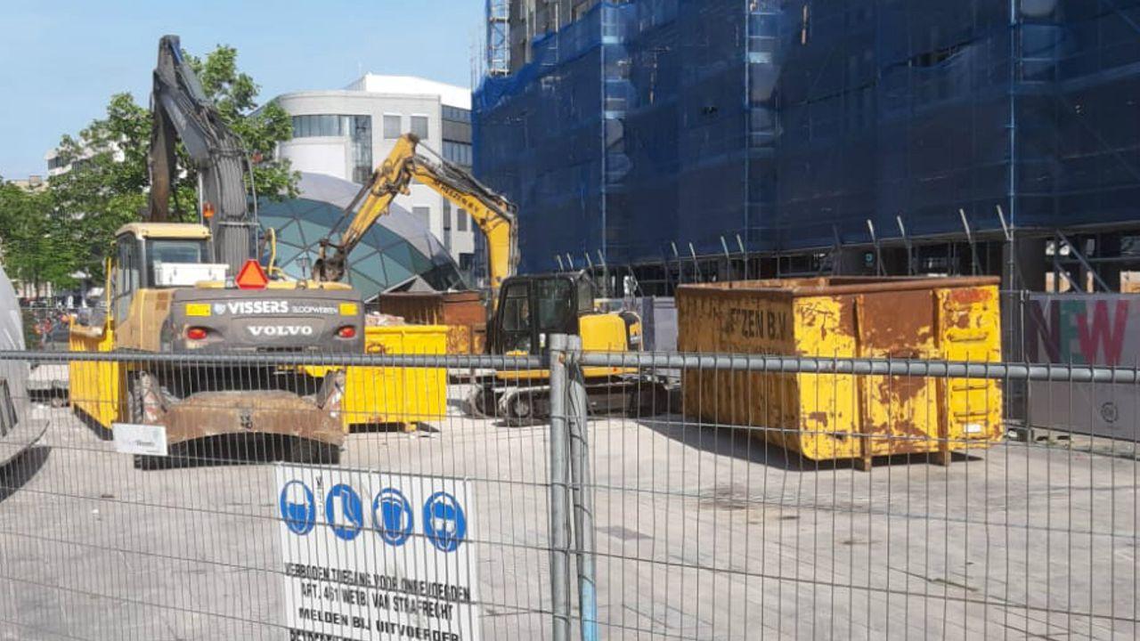 Marktkooplieden: 'Verbouwing bij 18 Septemberplein kost ons geld'