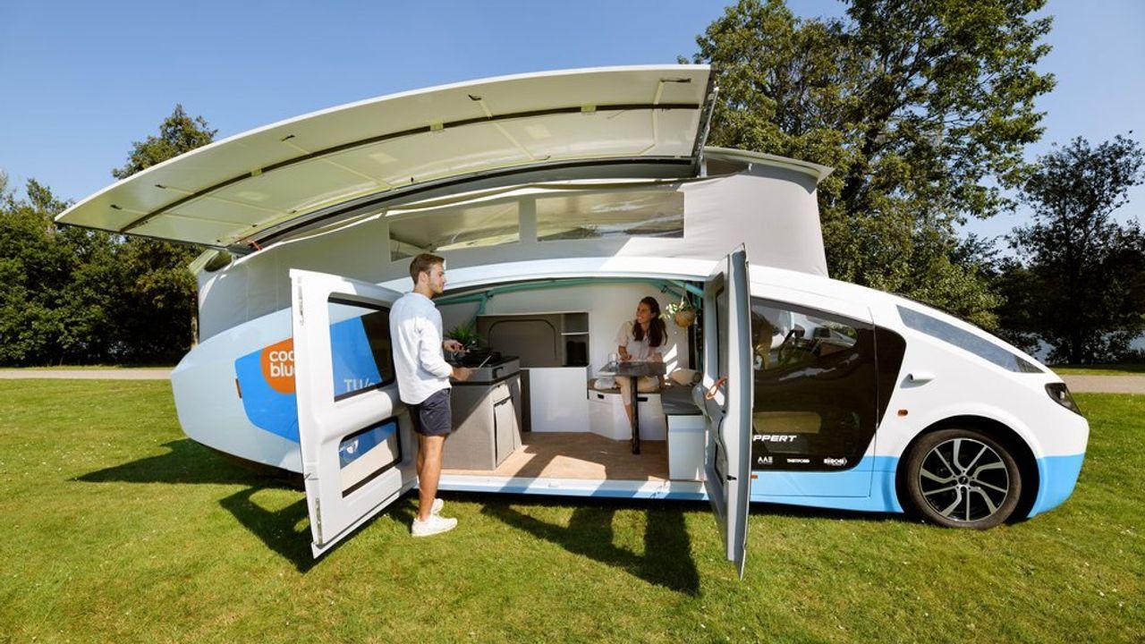 Camper op zonne-energie gaat Europa door