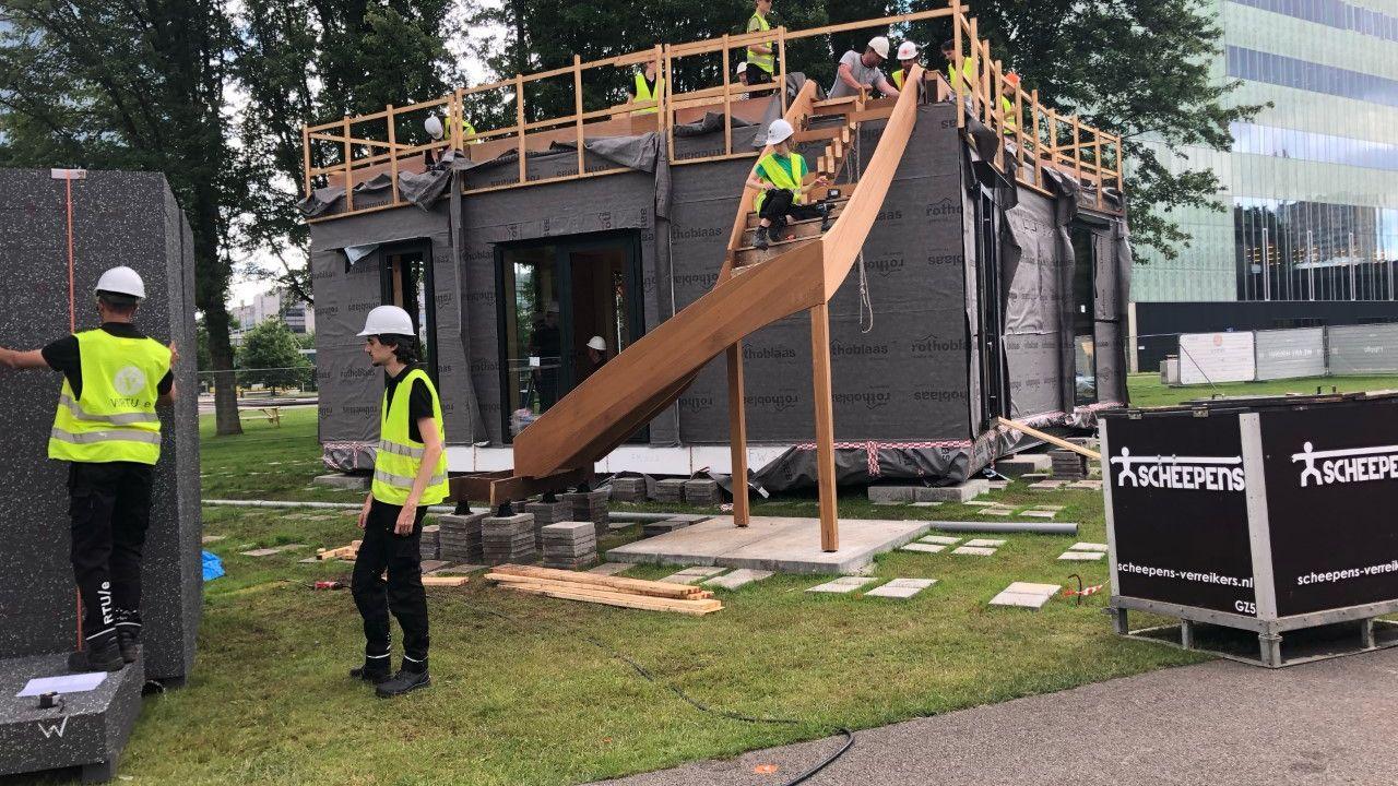Studenten TU/e bouwen duurzame woning midden op campus