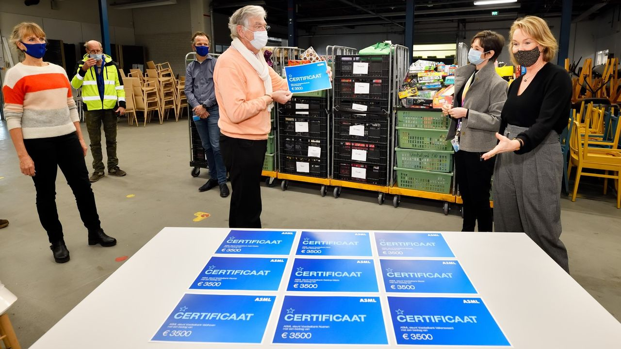Cadeaus en geldbedrag voor Voedselbank Eindhoven