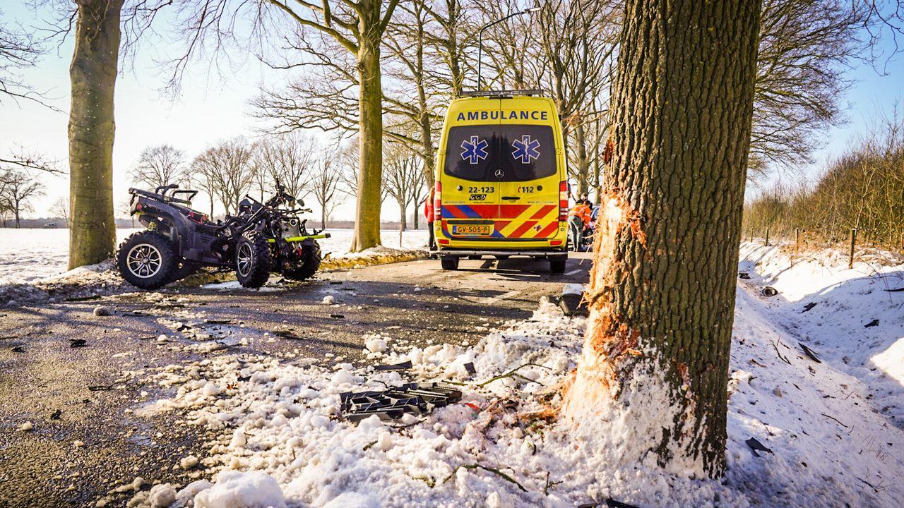 Twee jongens raken zwaar gewond met quad