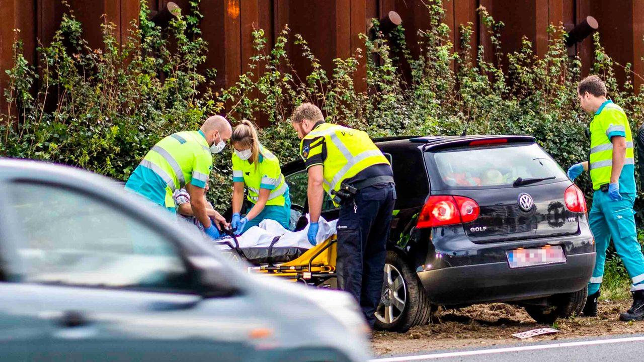 Automobilist gewond door ongeval N2 bij Eindhoven