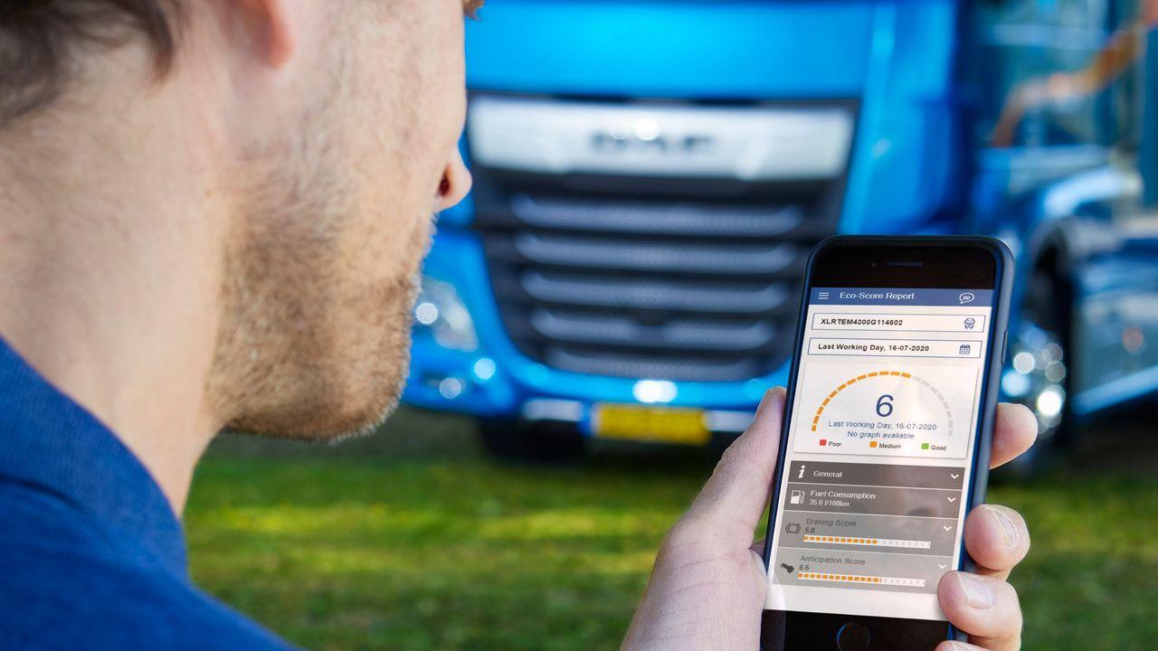 DAF wil dat chauffeurs zuiniger rijden met app