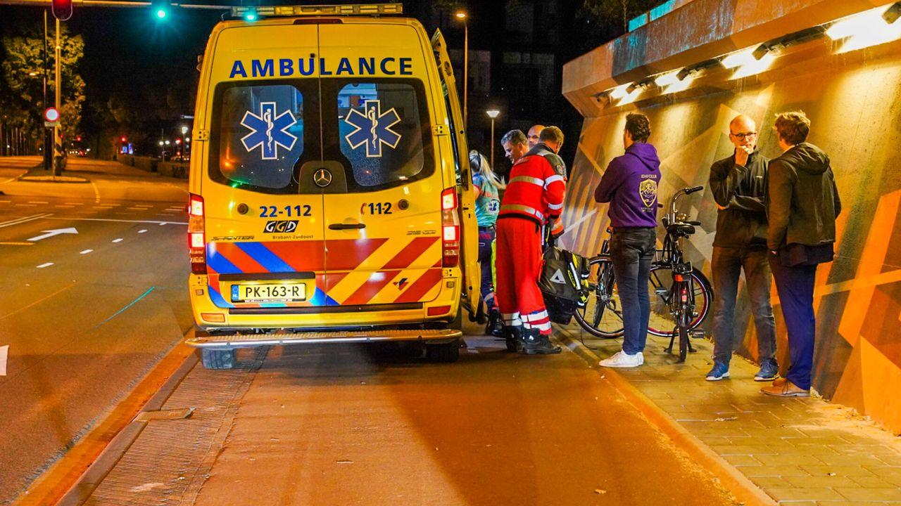 Traumaheli landt voor fietsongeluk