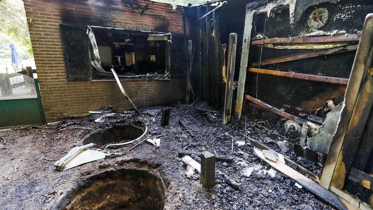 Grote hoeveelheid vuurwerkresten gevonden na brandstichting bij Parkpaviljoen Philips de Jong