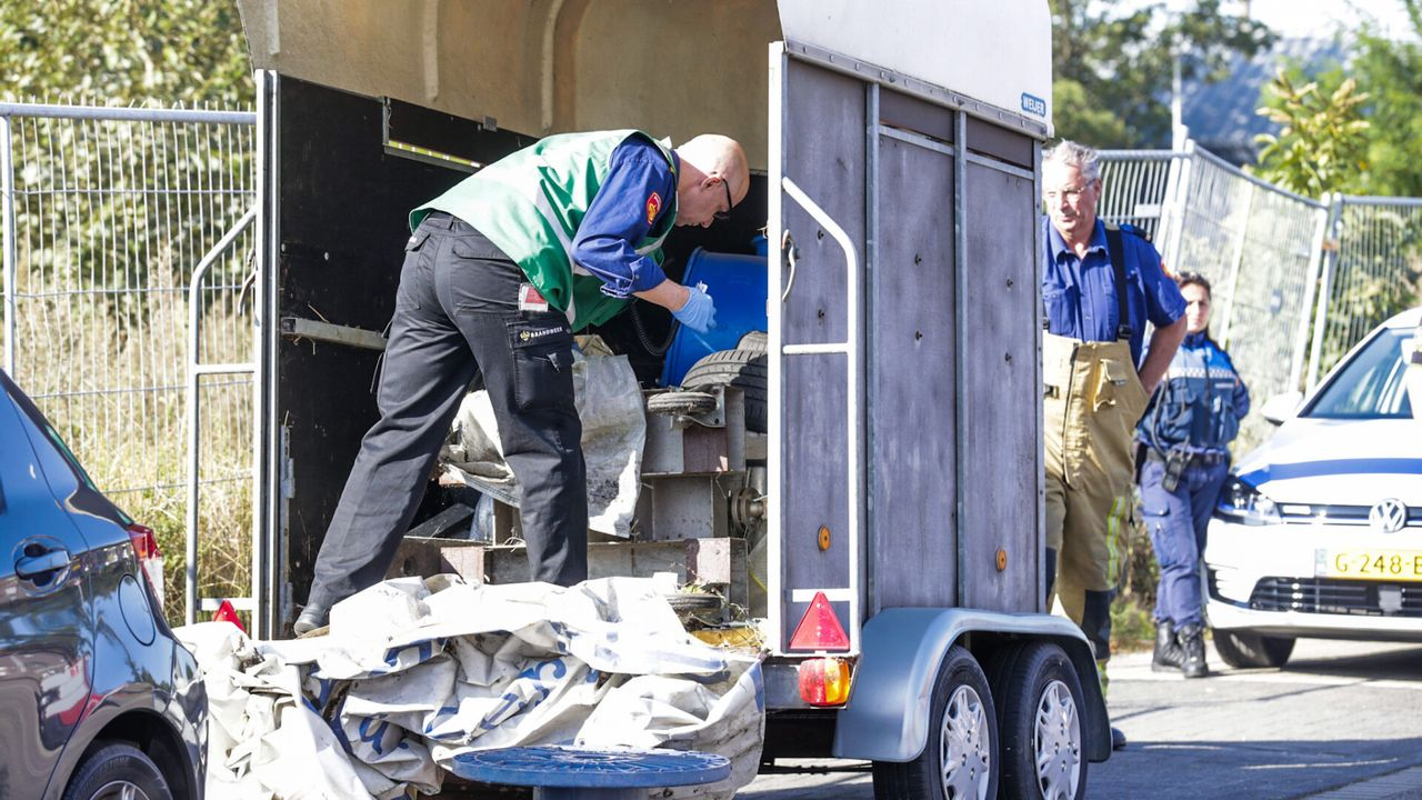 Paardentrailer met benodigdheden voor drugslab gevonden in Tongelre