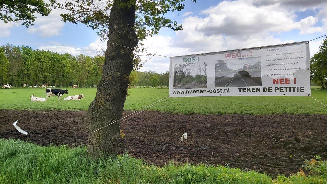 Plan voor nieuwe weg langs Nuenen-Oost is van de baan