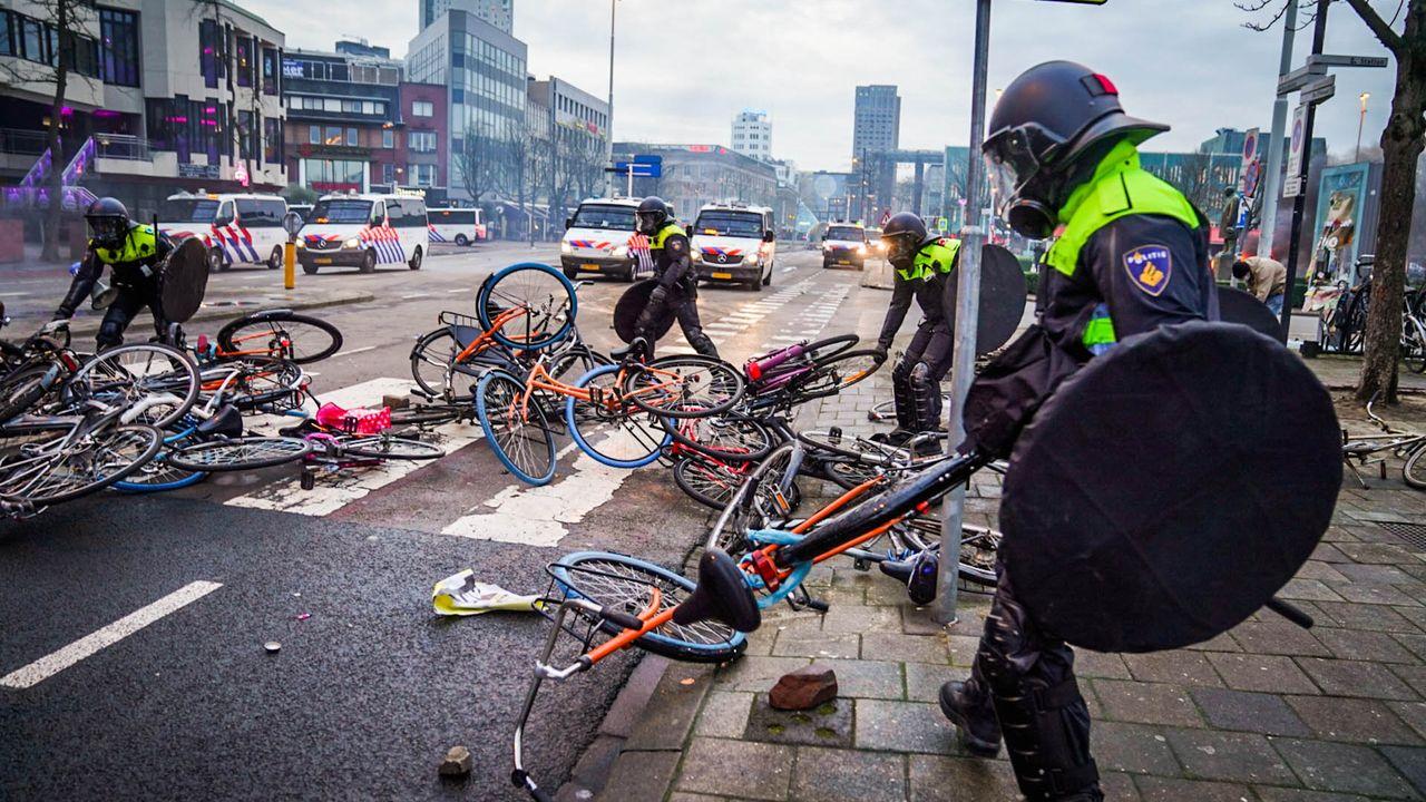 Man opgepakt voor rellen Eindhoven