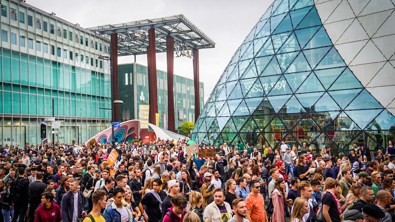 Ruim 7500 actievoerders in Eindhoven tijdens Unmute Us-protest