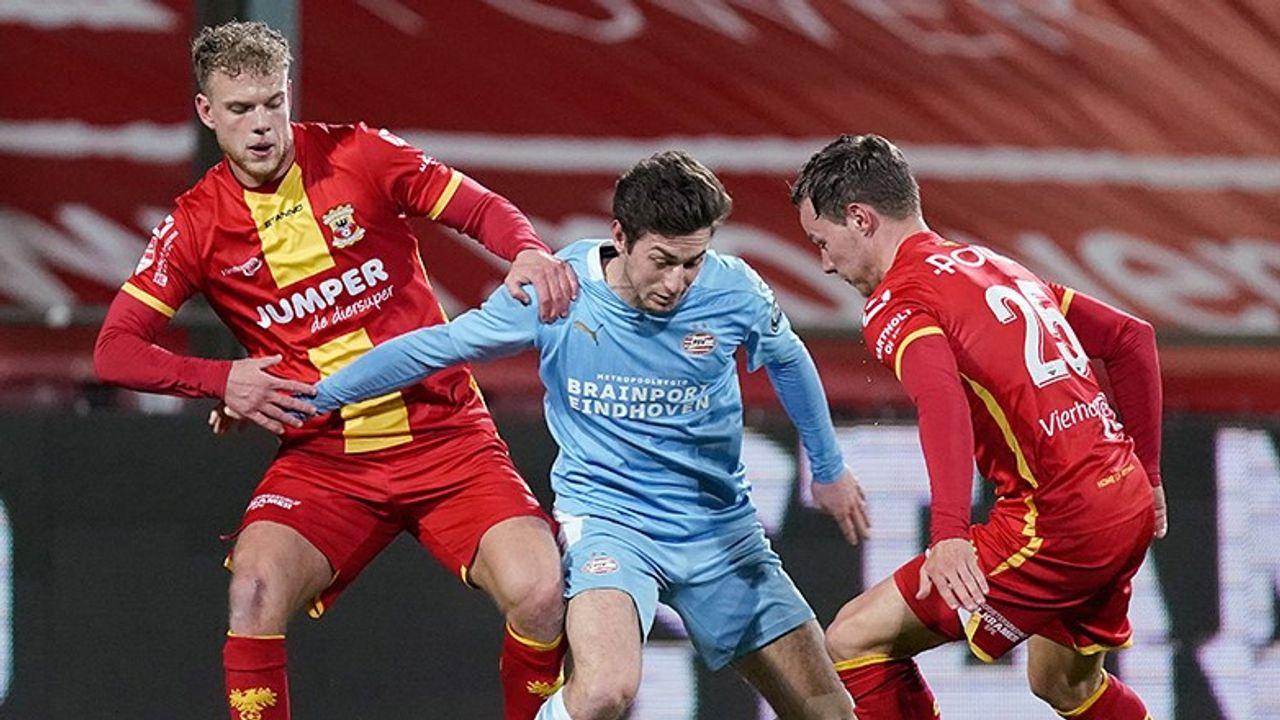 Nipte nederlaag voor Jong PSV op bezoek bij Go Ahead Eagles