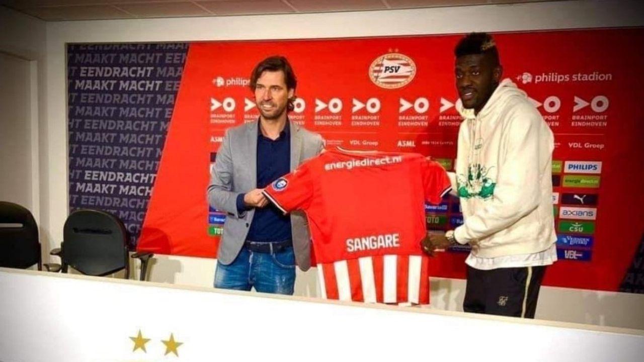 Foto's gelekt: transfer Sangaré naar PSV in kannen en kruiken