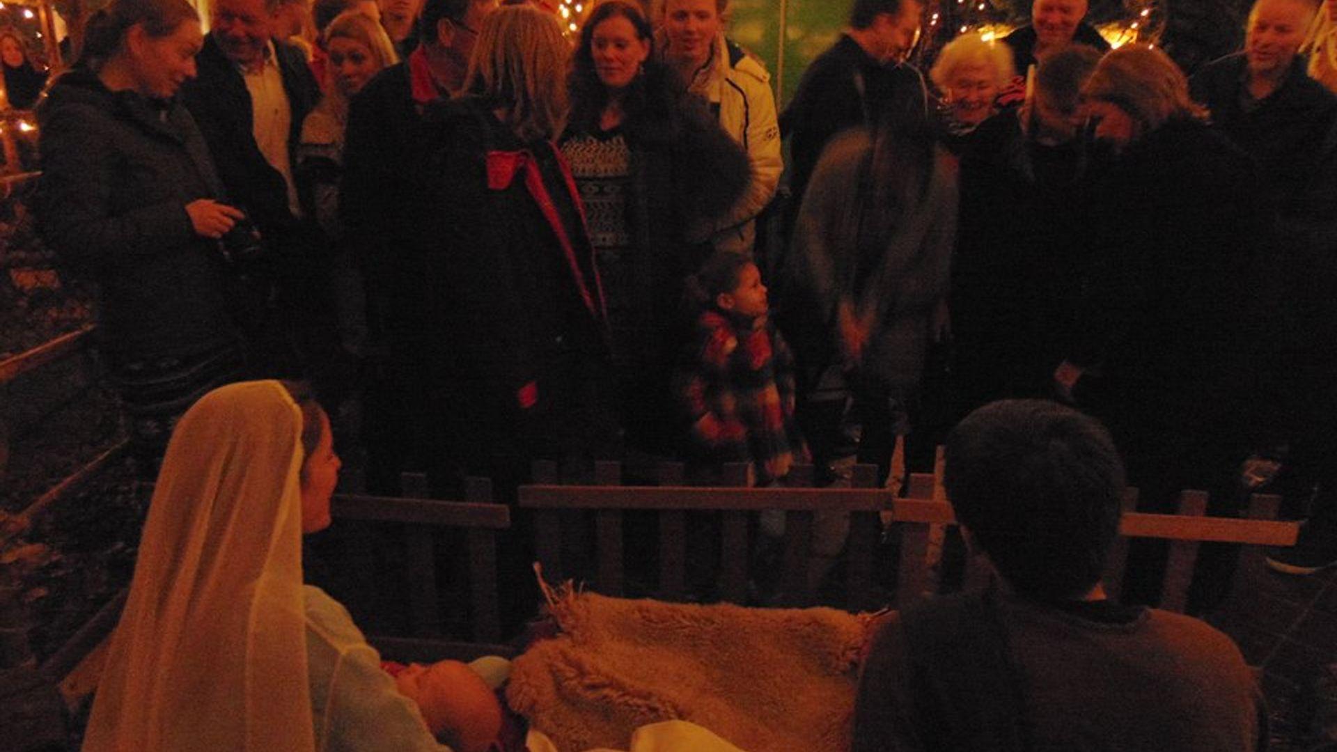 Kerststal Scouting Sint Aloysius Josef Maria