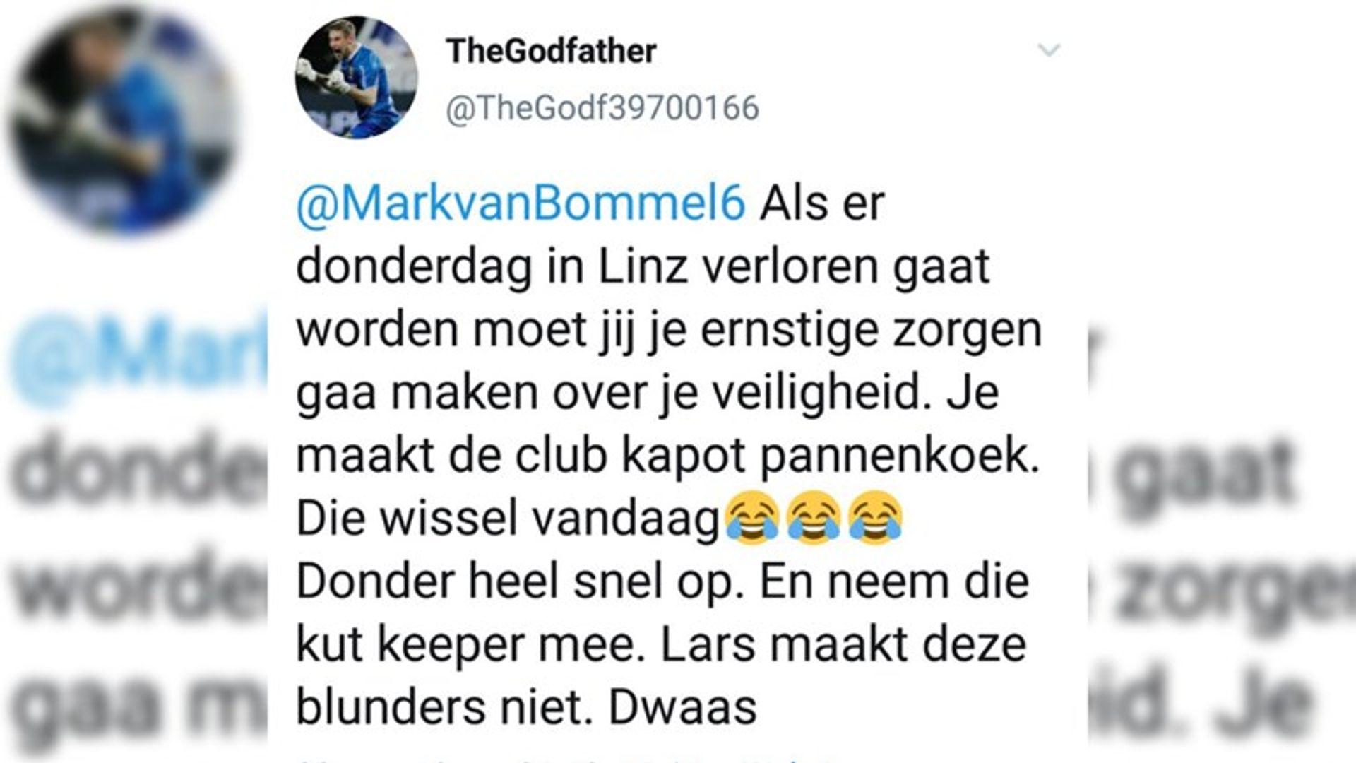 191108 Twitteraar bedreigt PSV