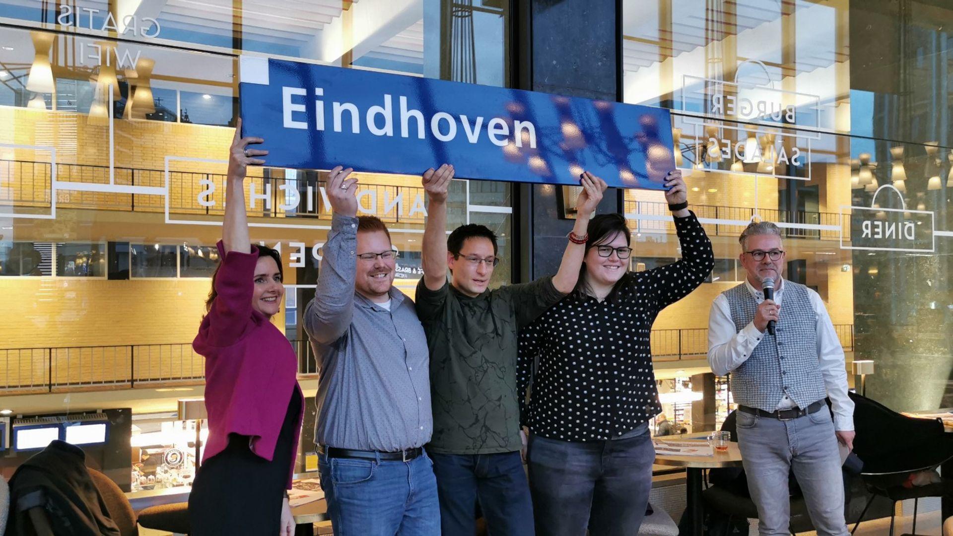 200114 Eindhoven Centraal Borden winnaars