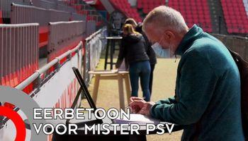 Eerbetoon in stadion voor 'Mister PSV'