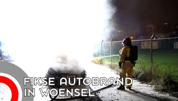 Auto in de as gelegd in Woensel