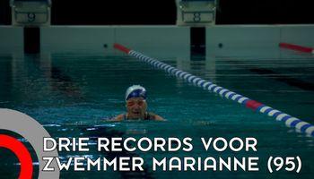 Marianne (95) zwemt per ongeluk drie records