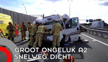 A2 urenlang dicht na groot ongeluk