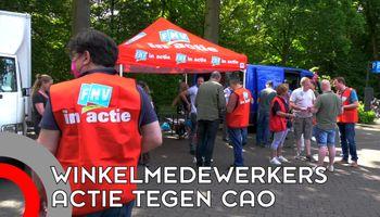 Supermarktmedewerkers voeren actie voor CAO