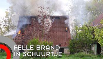 Felle brand in schuur aan Loostraat