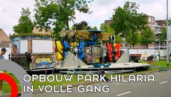 Opbouw kermis Park Hilaria in volle gang