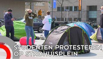 Studenten protesteren tegen regels kamerbewoning